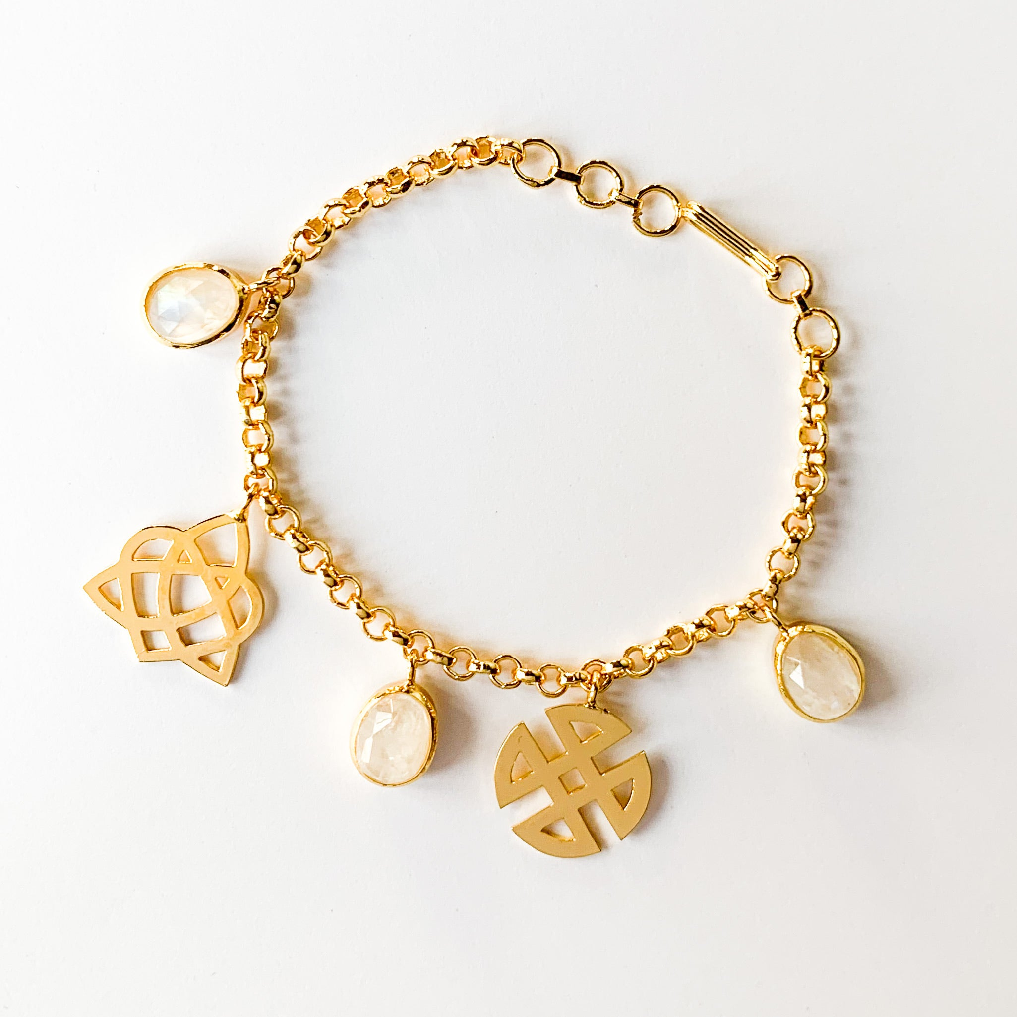 Love & Shield Charm Bracelet