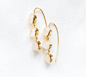 Moonstone Slider Earrings