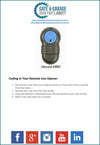 Merlin M802 Remote Coding Instruction
