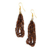 Maasai Drop Earrings Brown