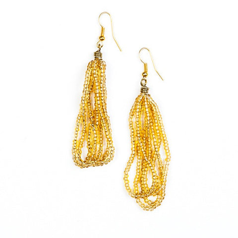 Maasai Drop Earrings Gold