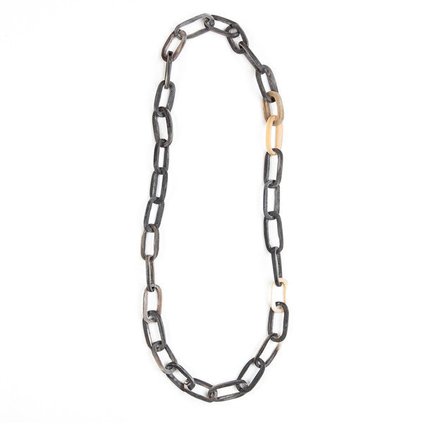 Horn Chain Link Necklace