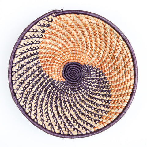 Nubian Basket Orange and Purple Spiral