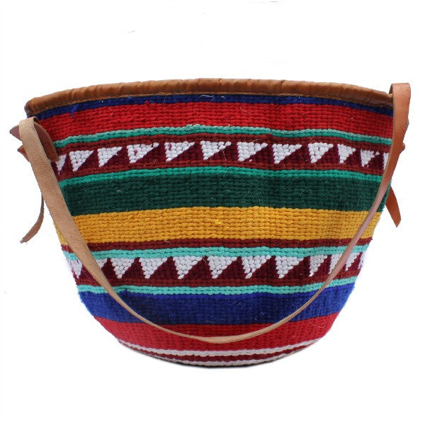 African Wool Cotton Colourful Bag
