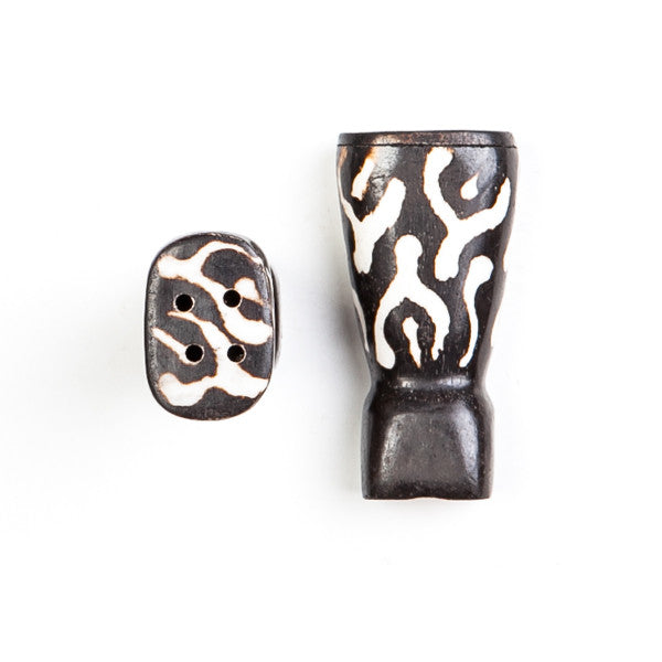 Salt and Pepper Shaker Set Flame Design