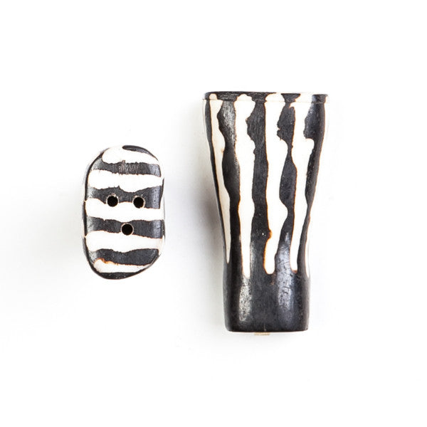 Salt and Pepper Shaker Set Zebra Design