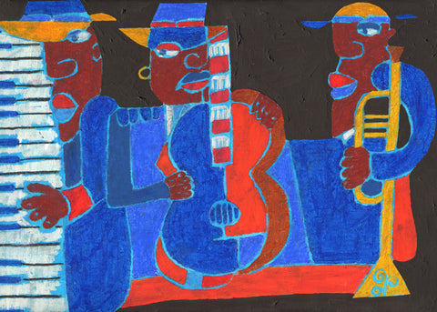 Jazz and Jamming Greeting Card