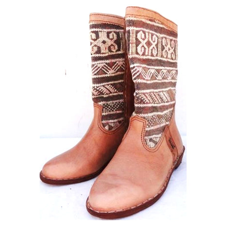 Natural Colour Kilim Carpet Boots