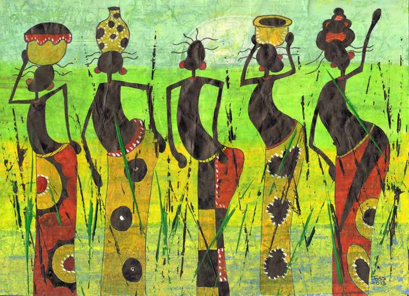 African Art Greeting Card Soulbrush at Lov'edu