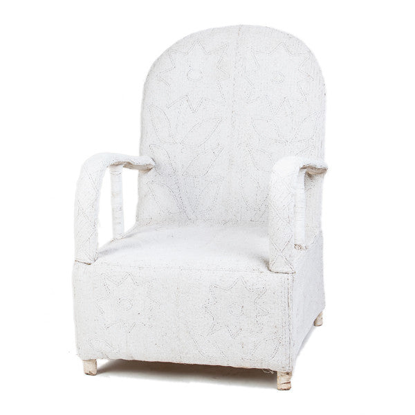 Nigerian White Beaded Chair