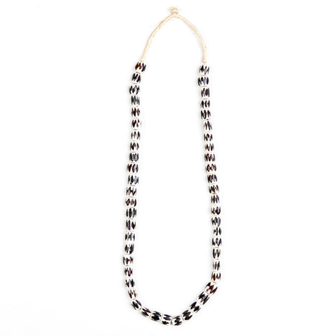 Necklace Small Bone Beads Zig Zag Design