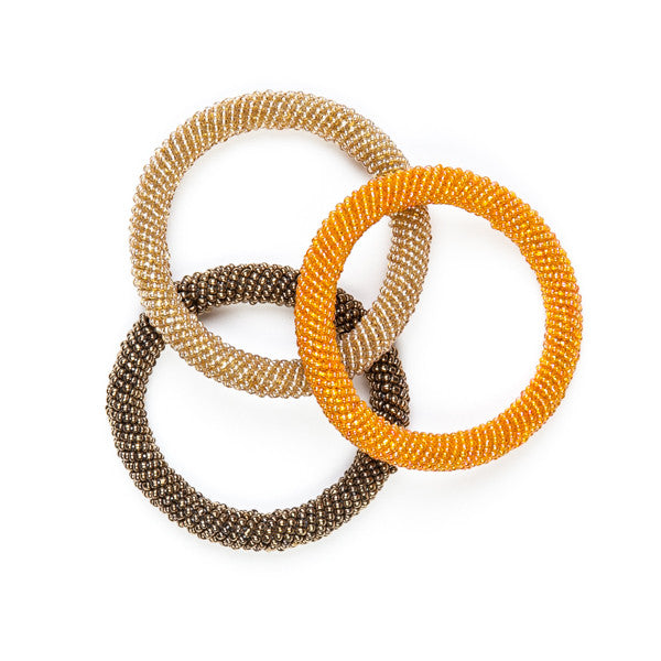 Maasai Beaded Bangles Gold