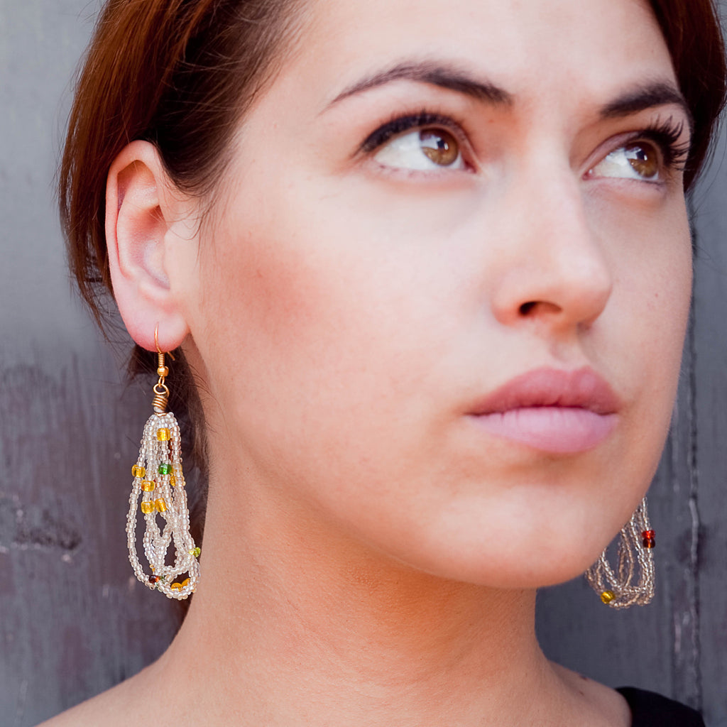 Maasai Glass Beads Earrings Handmade Fair Trade Ethical