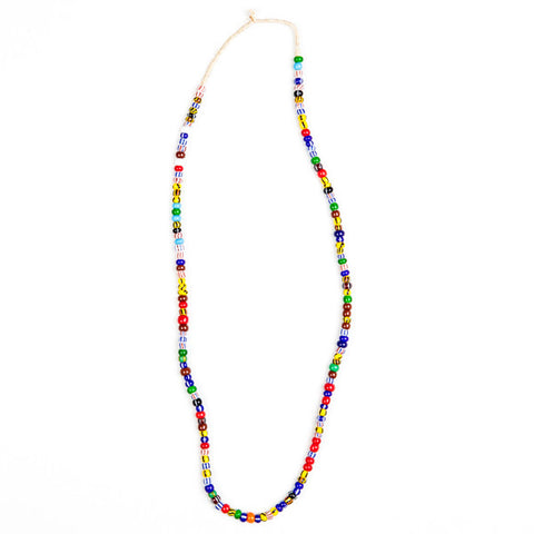 Colourful Glass Beads Necklace Ghana