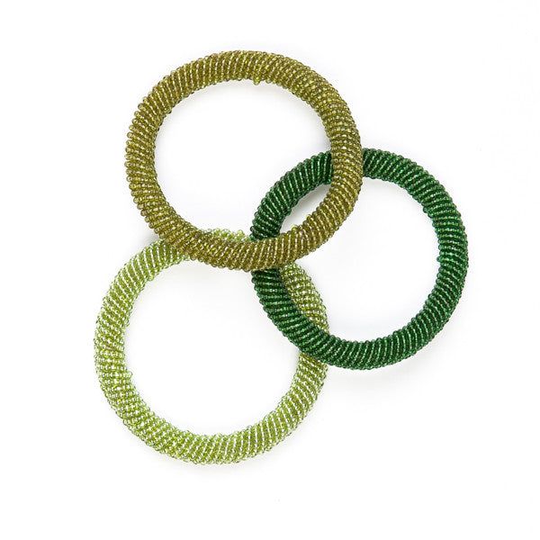 Maasai Beaded Bangles Green