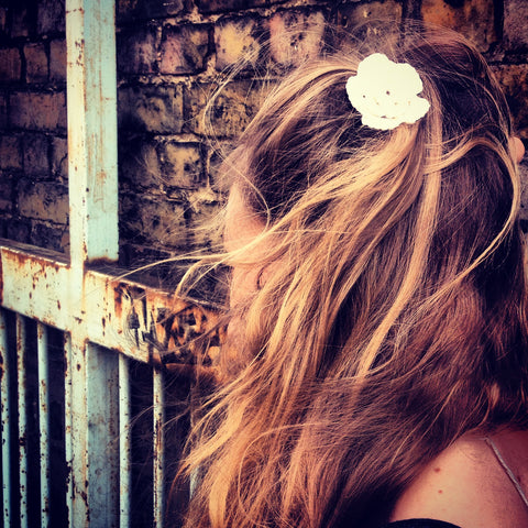 Ibiza Crochet Flower Hairpin