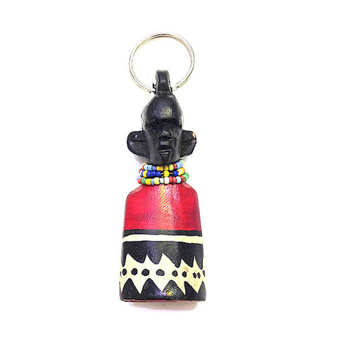 Hand carved Maasai Colour Beads Keyring