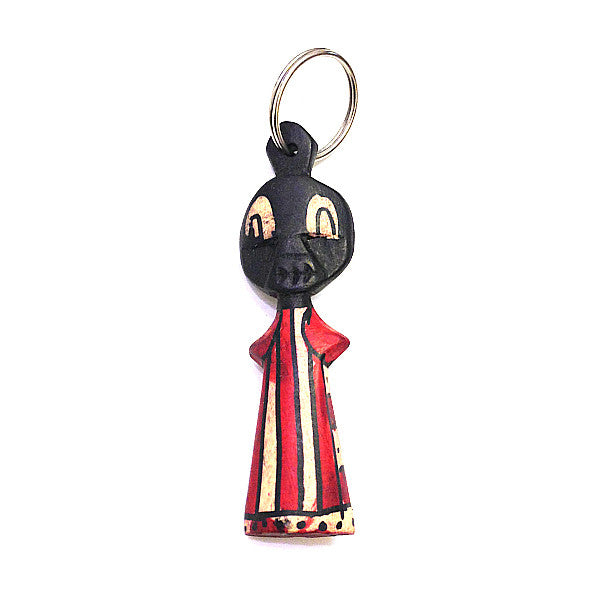 Hand carved Maasai Doll Keyring