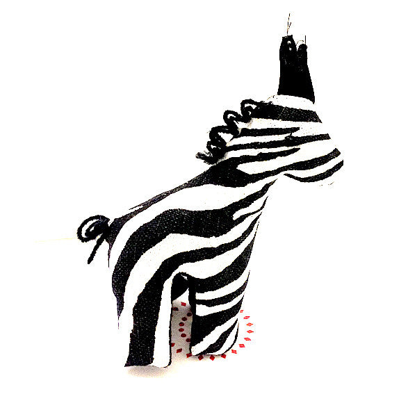 Giraffe toy small with classic black and white african print pattern