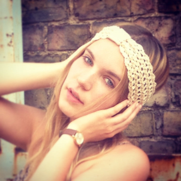 Ibiza Hippy Turban with Square Detail