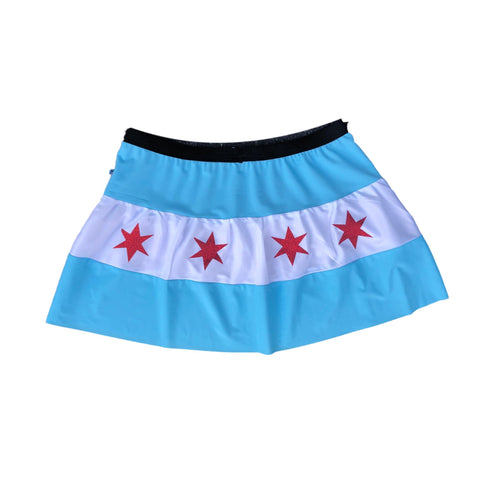 Chicago Flag Marathon Skirt - Rock City Skirts