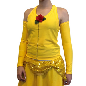 """Princess Belle"" Racerback (with Rose Accent) - Rock City Skirts"