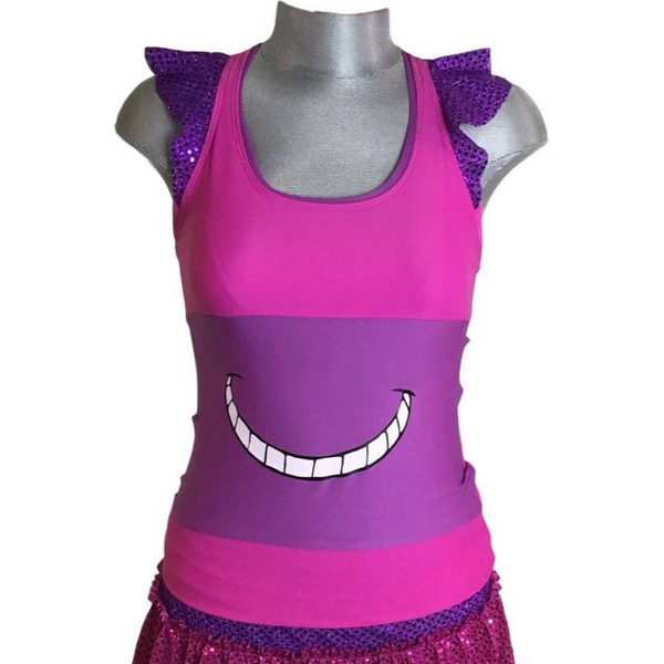 Smiling Cat Running Shirt - Rock City Skirts
