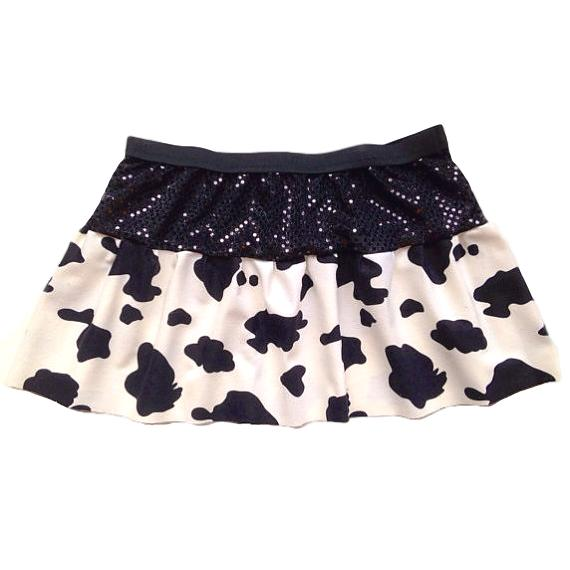 Cowgirl Skirt with Matching Trim (Optional Colors) - Rock City Skirts