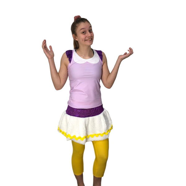 Daisy Duck Inspired Running Costume -Shirt and skirt (capris sold separately) - Rock City Skirts