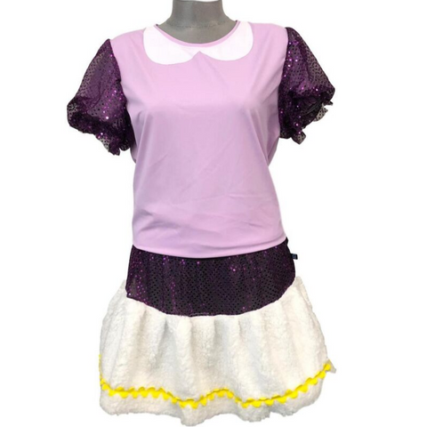 Girl Duck Inspired Running Costume- Puffy Sleeve T-Shirt and Skirt - Rock City Skirts