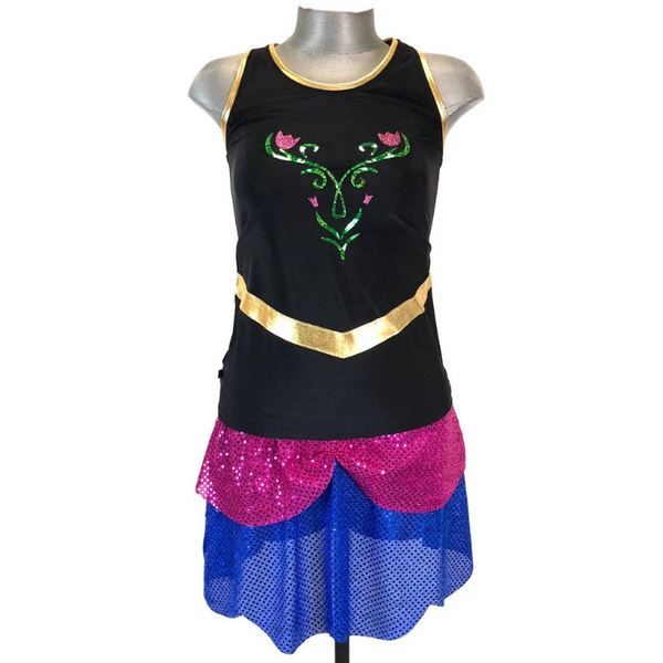 Anna from Frozen Inspired Running Racerback - Rock City Skirts