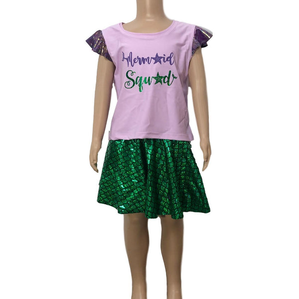 Children's Mermaid Squad Inspired Running Costume - Rock City Skirts