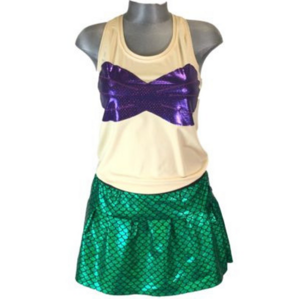 """Mermaid"" Themed Racerback Shirt - Rock City Skirts"