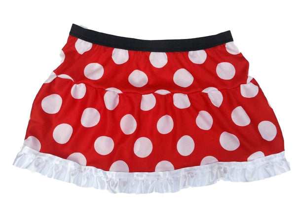 "Mrs Mouse"" Skirt (* with white ruffle*) and Ears Headband - Rock City Skirts"
