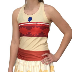 Polynesian Princess Inspired Running Shirt - Rock City Skirts
