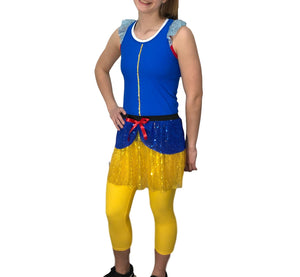 """Snow White"" Inspired Costume (with Ruffle Sleeve Racer back) - Rock City Skirts"