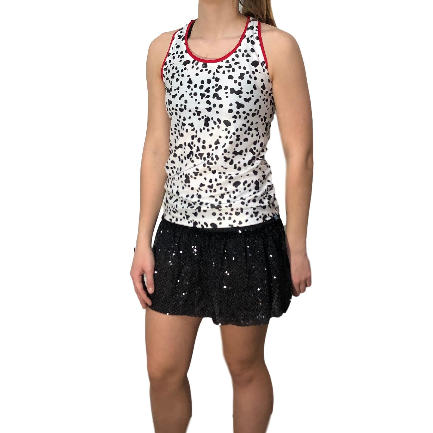 Dalmatians Inspired Costume- Racerback And Skirt - Rock City Skirts