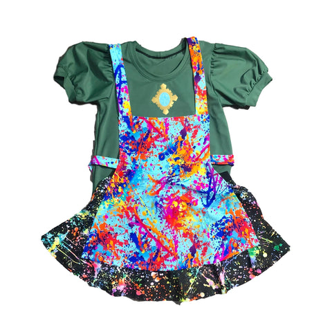 Dizzy Tremaine  Inspired Running Costume with apron - Rock City Skirts