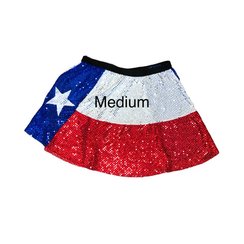 Sample Blow out- medium - as is, no refunds- Texas Flag - Rock City Skirts