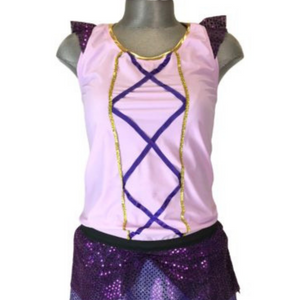 """Rapunzel"" Sparkle Running Shirt - Rock City Skirts"