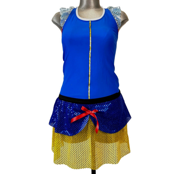 """Snow White"" Inspired Costume (with Ruffle Sleeve Racer back)- final mark down - Rock City Skirts"