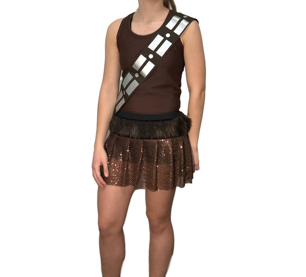 Chewy Costume Racerback and sash only (no skirt) - Rock City Skirts