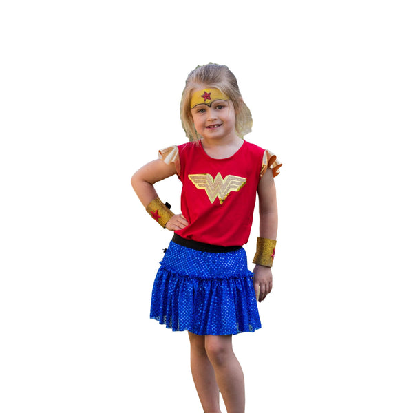 Children's Wonder Woman Inspired Running Costume - Rock City Skirts
