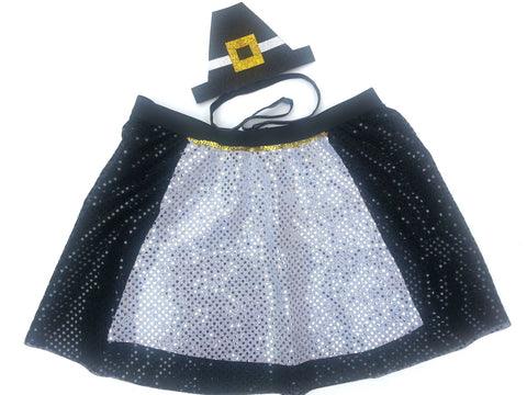 "Children's ""Pilgrim"" Skirt With Non Slip Headband - Rock City Skirts"