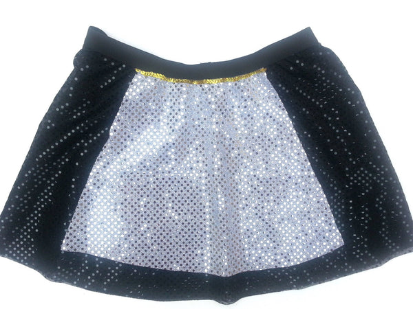 Sparkle Skirt With Sparkle Apron - Rock City Skirts