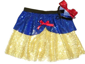"""Snow White"" Inspired Sparkle Skirt (with Headband) - Rock City Skirts"