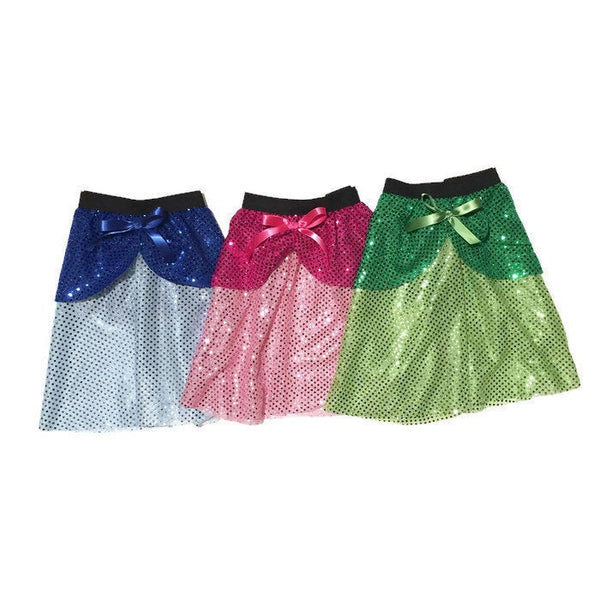 """Fauna"" Sleeping Beauty Green/Fairy Godmother Inspired running skirt - Rock City Skirts"
