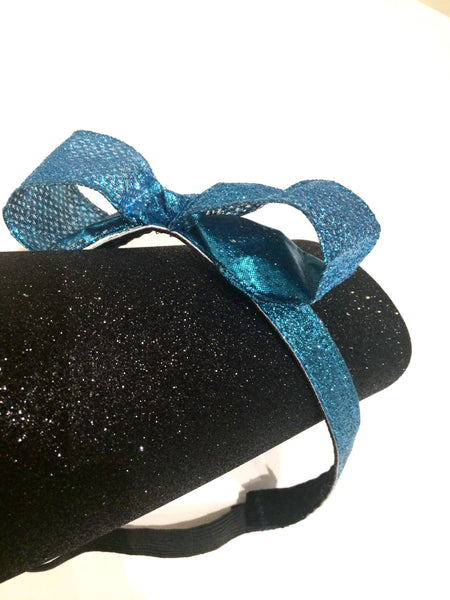 """Drizella"" Turquoise Glitter Non-Slip Headband- Turquoise headband only- NO BOW - Rock City Skirts"