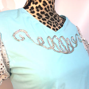 Cinderella inspired Sparkle Running Shirt- OVERSTOCK- Discontinued item- no sparkles on front - Rock City Skirts