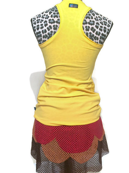 Yellow Racerback Running Shirt - Rock City Skirts